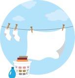 Laundry Circle Stock Photo