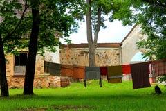 Laundry clothesline Stock Photography
