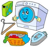 Laundry collection. On white background -  illustration Stock Image