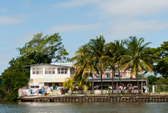 Laundry Day on the Belize River stock photos