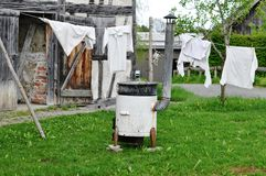 Laundry day - oldfashioned way Royalty Free Stock Photos