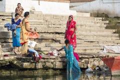Laundry day in Varanasi, India royalty free stock photos