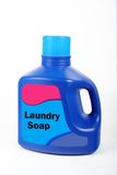 Laundry Detergent. Blue laundry detergent container on a white background stock images