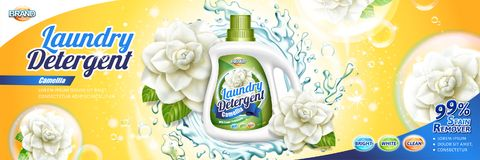 Laundry detergent ads royalty free illustration