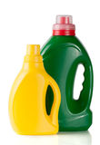 Laundry detergent bottle with fabric softener isolated on white background Stock Image