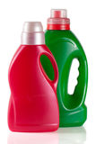 Laundry detergent bottle with fabric softener isolated on white background.  Stock Photography