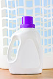 Laundry detergent nad plastic basket Stock Image