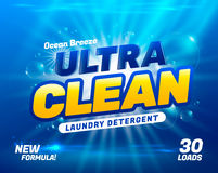 Laundry detergent package Stock Photo