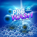 Laundry detergent product packaging design with cloth fiber remo Stock Photo