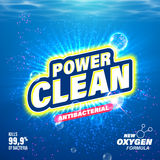 Laundry detergent, toilet cleanser package design Stock Photo