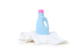 Laundry Detergent On Top of a Towel Stock Image