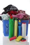 Laundry with detergents Stock Image
