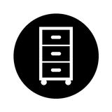Laundry drawer  icon Stock Images