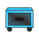 Laundry drawer isolated icon Stock Photography