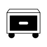 Laundry drawer isolated icon Royalty Free Stock Image