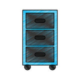 Laundry drawer isolated icon Royalty Free Stock Photography