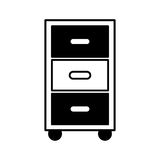 Laundry drawer isolated icon Royalty Free Stock Photo