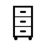 Laundry drawer isolated icon Stock Photos