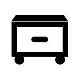 Laundry drawer isolated icon Royalty Free Stock Photos