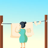 Laundry and dry cleaning background Stock Image
