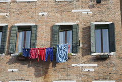 Laundry drying on the campo Royalty Free Stock Photography