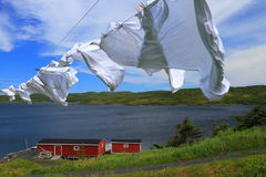 Laundry drying Royalty Free Stock Images