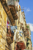 Laundry drying in Havana stock photos