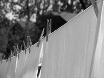 Laundry drying on line Royalty Free Stock Photography