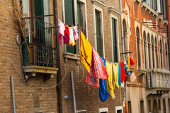 Laundry Drying Outdoors in Venice Stock Photos