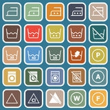 Laundry flat icons on blue background Royalty Free Stock Image