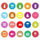 Laundry flat icons on white background Stock Images