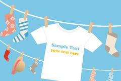 Laundry frame. Laundry t-shirts frame.Illustration Stock Images