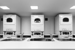 Laundry Front sinks Stock Photography