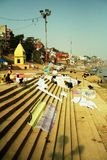 Laundry at Ganges river Stock Image