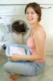 Laundry girl Royalty Free Stock Photo