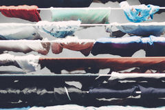 Laundry hanged to dry Royalty Free Stock Photos