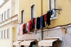 Laundry Hanging Stock Image
