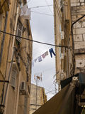 Laundry hanging in Corfu Town - Kerkyra Royalty Free Stock Photos