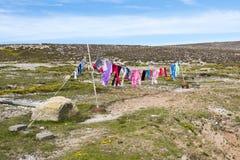 Laundry hanging outside Royalty Free Stock Image