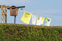 Laundry hanging to dry Royalty Free Stock Photo