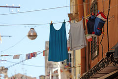 Laundry hanging to dry Royalty Free Stock Image