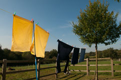 Laundry hanging up to dry Royalty Free Stock Images