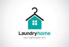 Laundry Home Logo Template Design Vector, Emblem, Design Concept, Creative Symbol, Icon. This design suitable for logo, symbol, emblem or icon Royalty Free Stock Photo