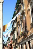 Laundry between houses in Venice Stock Photos