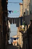 Laundry hung out to dry in Venice Royalty Free Stock Image