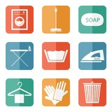 Laundry icons Royalty Free Stock Images