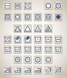 Laundry icons Stock Image