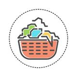 Laundry icons in flat colors style. Vector illustration royalty free illustration