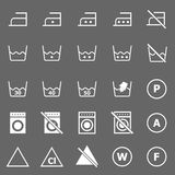 Laundry icons on gray background Royalty Free Stock Image