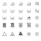 Laundry icons with reflect on white background Stock Image